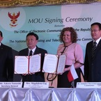 Signature of the memorandum of understanding between UKE and Thai regulator (NBTC) / photo UKE